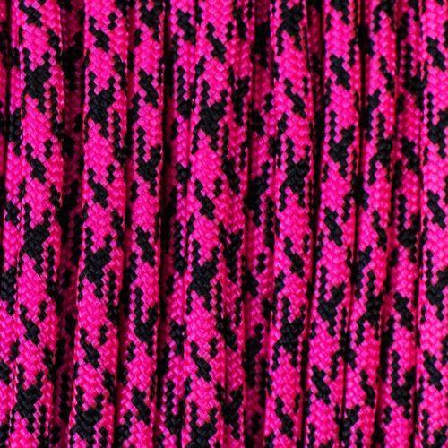 Neon Pink & Black Camo paracord