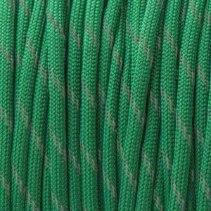 Reflective Kelly Green Paracord