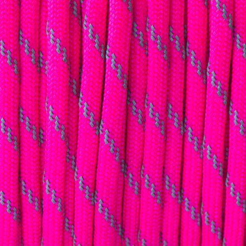 Reflective Neon Pink Paracord