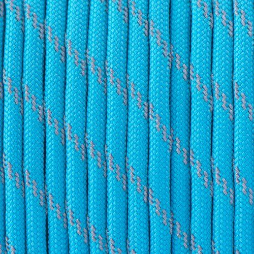Reflective Neon Turquoise Paracord