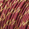 Metallic Glitter Burgundy & Gold Tracer Paracord