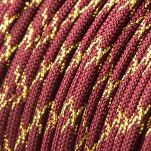 Metallic Glitter Burgundy & Gold Tracer Paracord
