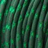 Metallic Glitter Emerald Green & Green Tracer Paracord