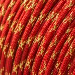 Metallic Glitter Imperial Red & Gold Tracer Paracord