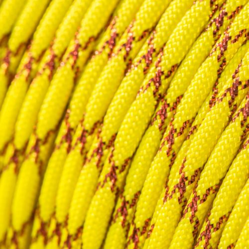 Metallic Glitter Neon Yellow & Red Tracer Paracord