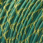 Metallic Glitter Teal & Gold Tracer Paracord