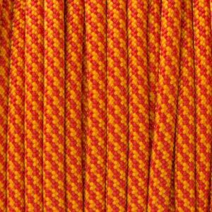 Simply Red & Royal Orange Spiral Paracord