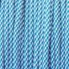 White & Caribbean Blue Spiral Paracord